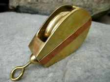 BRASS & COPPER PULLEY SHEAVE MARITIME MARINE VERY DECORATIVE TOOL