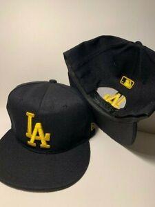 LA Embroidered Snapback Baseball Cap Adjustable Fit Flat Bill