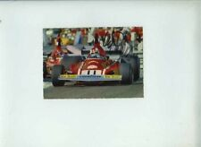 Clay Regazzoni Ferrari 312 B3 1974 Signed Vintage Postcard Cartolina 2