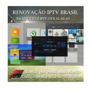 IPTV H.TV Brazil Android Renewal 16 Digit activation code for A2 A3 HTV 3 5 6 8