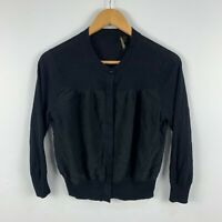 Country Road Womens Cardigan Top Size Small Navy Blue Long Sleeve Button Closure