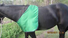 NEW HORSES SATIN UNDER RUG BIB Green Medium (COB size)