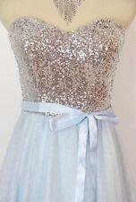 Windsor USA Grand  LT Blue $110 Prom Formal Evening Cocktail Short Dress Size 13