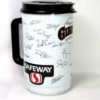 Vtg San Francisco Giants Autographs Signed Print 46oz Plastic Whirley Mug MLB