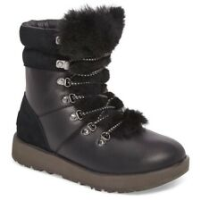 NEW UGG Vicki Waterproof Leather & Sheepskin women's Boots black size 7.5 $220