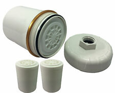 HIGH QUALITY Shower Filter KDF/Carbon REMOVES CHLORINE +2 Spare Filters (39-9)