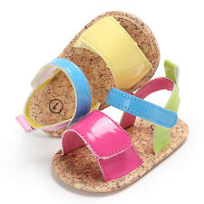 Newborn Baby Kids Girls Boys Soft Sole Crib Shoes Hit Color Prewalker Sneakers