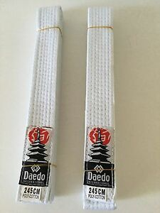 Marital Art Tae Kwon Do Judo Daedo International Kids White 2 Belts 245cm