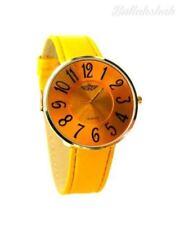 Gelbe Armbanduhren aus Gelbgold für Damen