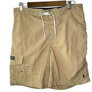 Vintage Polo Ralph Lauren Swimwear Mens Medium Brown Measures 33-34 X 9