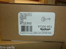 NEW Kwikset Lido Antique Brass Hall /Closet Lever 720LL 5 6GAL RCS V1 97200-851