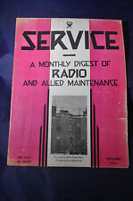 September 1933 Service Magazine Monthly Digest of Radio and Allied Maintenance