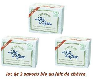 savon bio au lait de chèvre (lot de 3)