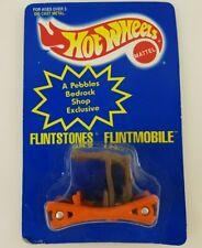 NEW Hot Wheels Flintstones Flintmobile Blue Card 1994 Pebbles Color Changing