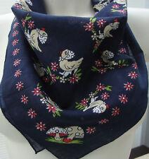Hübsches Halstuch in blau mit Gänsemotiv neu zu verkaufen