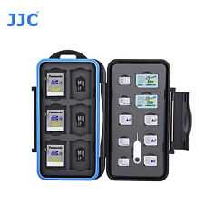 JJC MC-STM22A Memory Card Case fits 6 SD 6 MSD 2 SIM 4 Micro SIM 4 Nano SIM NEW