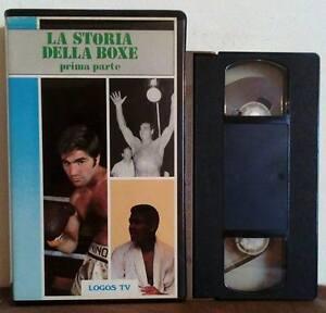 VHS Ita Documentario LA STORIA DELLA BOXE Prima Parte Carnera no dvd (V18)
