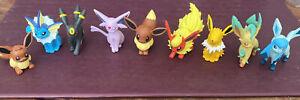 Eevee evolution Pokemon Nintendo Tomy figures - Near Complete - Missing Sylveon