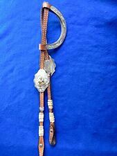 Montana Silversmith Silver & Rawhide Western Show Headstall, Bridle, Cowboy