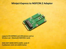 PCI Express to m.2 (NGFF) (PCIe + USB) adapter for WIFI/WLAN + Bluetooth CARDS