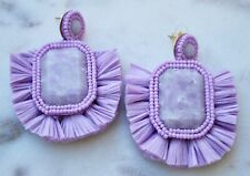 NEW- HH AMBRA STATEMENT EARRINGS IN LILAC