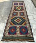 Authentic Hand Knotted Suzani Kilim Kilm Wool Area Runner 6 x 2 Ft (2824 HMN)