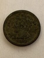 1849 Philadelphia Mint Copper Braided Hair Large Cent *948