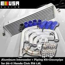 Intercooler+Pipings+Downpipe combo fits 06-11 Honda Civic R18 EX DX 1.8L