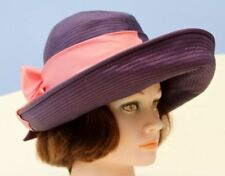 Wide Brim Tailored Vintage Hats for Women