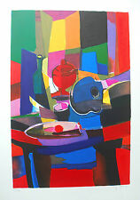 "Marcel Mouly ""Mandole et Compotier Rouge"" Limited Signed Numbered Print w/ COA"
