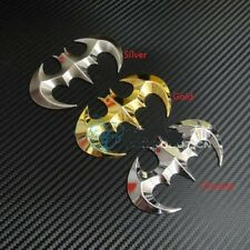 Car Motorcycle Metal Emblem Badge Bat Batman 3D Logo Silver / Chrome / Gold