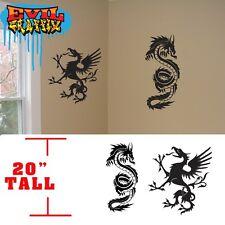 Martial Arts Griffon dragon decals,wall martial arts stickers, dragon stickers