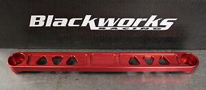 Blackworks BWR V1 Billet Rear Lower Tie Bar for 06-15 Honda Civic Red FG FA