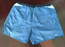 Men's True Vintage Blue Hobie Nylon Elastic Waist Surf Shorts Swim Trunks Large