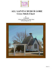 ALL SAINTS CHURCH GORE - cross stitch chart
