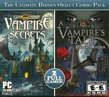 Vampire Secrets & A Vampire Tale PC Games Windows 10 8 7 XP Computer Games