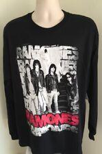 Ramones Long Sleeve T Shirt XL Extra Large Black 100% Cotton Graphic Tee NWT