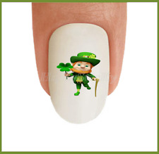 Nail Art St Patricks Day #21 Clover Irish Leprechan WaterSlide Nail Decal Tranfr