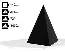 Orgonite Casting Nubian Pyramid Mold, 140 X 140mm Base, Self-Lubricating HDPE