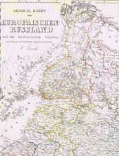 4 echte 173 Jahre alte Landkarten RUSSLAND Finnland Russia Россия Ural Krim 1844