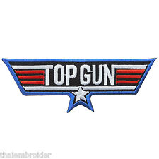TOP GUN US Navy Pilot Air Force Attack Fighter Weapons Wing Iron on Patch #P023