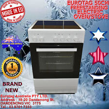 Eurotag 50cm Freestanding Electric Oven + Ceramic Cooktop STOVE RRP$999.00
