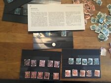 Stamps 1841 2d Blue,1 silver 5 penny reds, 5 qv half penny green,5 orange1 blue