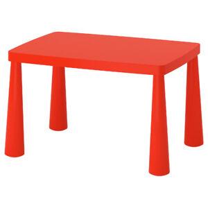 IKEA MAMMUT Kindertisch 77cm x 55cm Kinderzimmer Kindermöbel ROT NEU