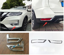 Accessories Chrome Front & Rea Fog Light Lamp Cover for Nissan Rogue 2017 2018