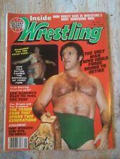 mint Inside Wrestling 1977 Magazine NWA Revue Funk Sheik Orton Graham Brisco AWA