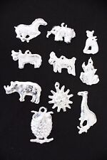 """Medium Milagros Charms Silver Color Lot of 10 what you see is what you get """"J-2"""""""