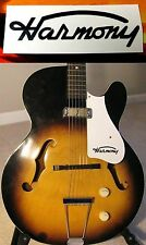 Vintage Harmony Pick guard Waterslide Decal Black 1950's Rocket Archtop Guitar