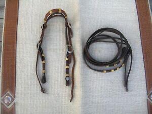 CIRCLE Y WESTERN SHOW/TRAIL COB/ARAB SIZE Headstall + MATCHING REINS