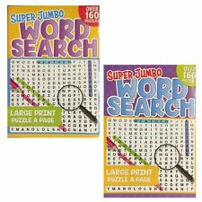 2 x SUPER JUMBO WORD SEARCH BOOK-LARGE PRINT - BOOK1 + BOOK 2 - 320 PUZZLES